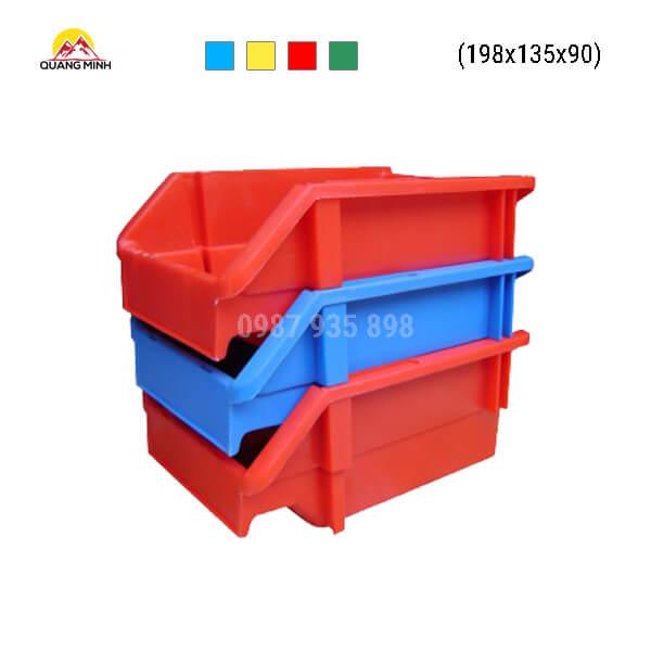Thung-nhua-dac-A5-song-bit-mau-xanh-do-198x135x90