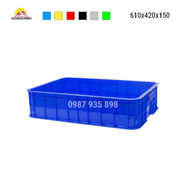 thung-nhua-dac-hs007sb-song-bit-mau-xanh-610x420x150