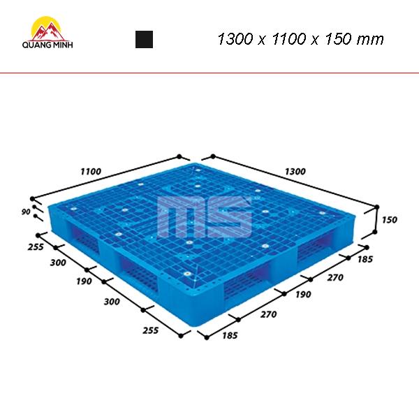 Pallet nhua kho N4 1311 2 1300 x 1100 x 150 mm (2)