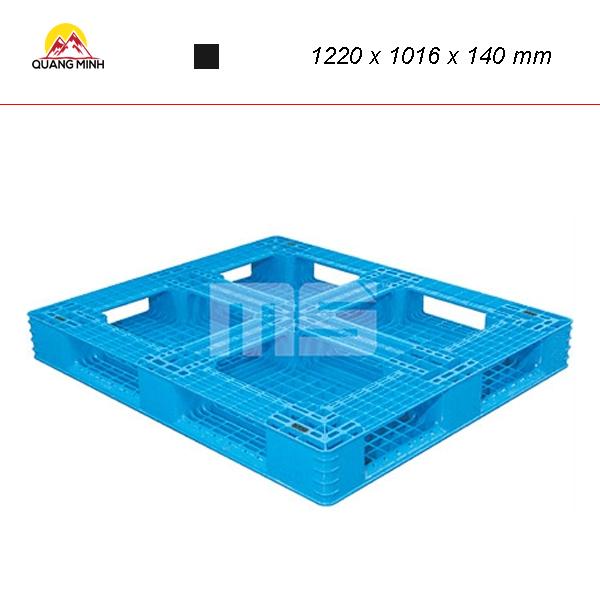 Pallet nhua kho N4 4840LA 1220 x 1016 x 140 mm (1)