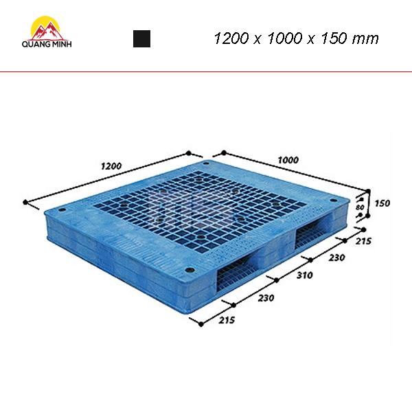 Pallet-nhua-kho-WR2-1210-1200-x-1000-x-150-mm