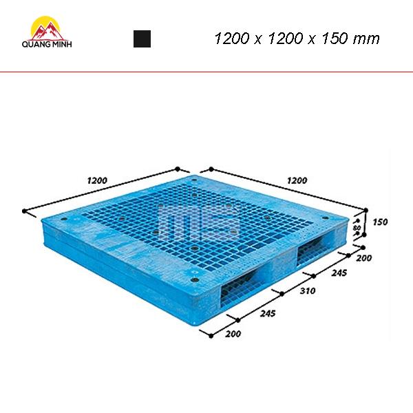 Pallet-nhua-kho-WR2-1212-1200-x-1200-x-150-mm