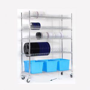 Xe đẩy cuộn nguyên liệu SMT | ESD-Safe Wire Shelf Utility Carts